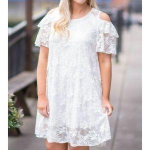 Dresses & Skirts - Cold Shoulder Lace Dress